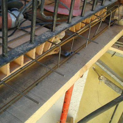 REFUERZOS ESTRUCTURALES / ARIBAU, 161  </br></br>Trabajos de rehabilitación de las biguetas metálicas de los forjados de las balconadas de la fachada interior y reconstrucción de los mismos.