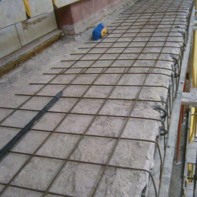 REFUERZOS ESTRUCTURALES /  CALLE VALL D'ORDESA, 11-13  </br></br>Trabajos de rehabilitación de forjados de hormigón de fachada y reconstrucción de los mismos